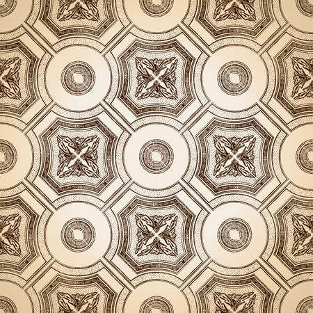 ceiling tile seamless vintage decorative Illustration