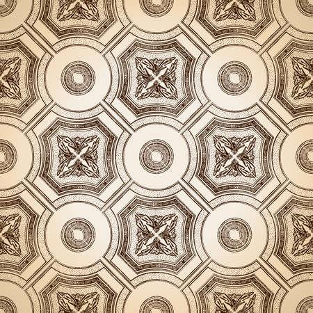 ceiling tile seamless vintage decorative Vector
