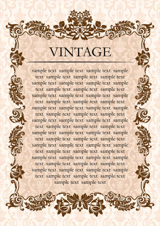 Vintage glamour frame decor illustration