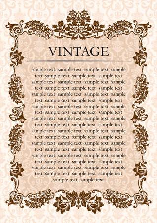 Vintage glamour frame decor illustration
