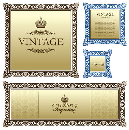 Vintage frame decor ornament. illustration Stock Vector - 7998328