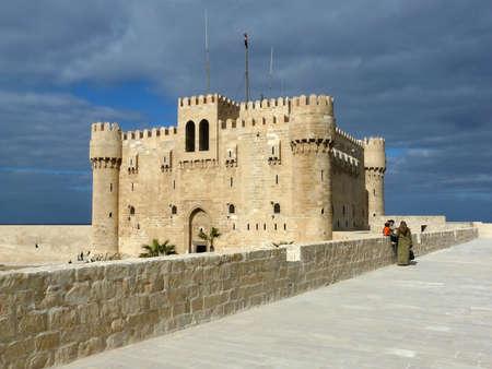 Fort w Aleksandrii miejscu starożytnego beacon Zdjęcie Seryjne