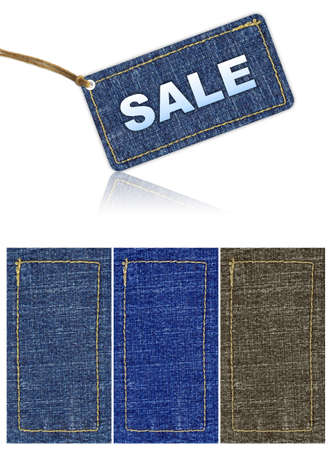 jeans sale tag discount. background Stock Photo - 7998532