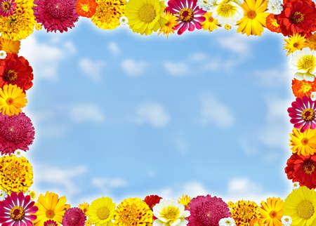 Flower framework for photo sky Stock Photo - 7998743