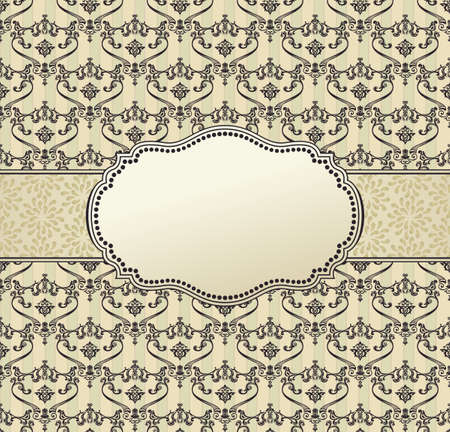 victorian christmas: invitation art vector frame package label vintage with retro abstract seamless batskground