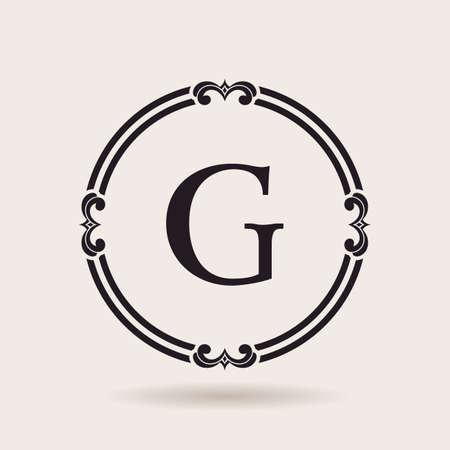 simple border: Vector frames design emblems. Vintage labels and badges for logos quality