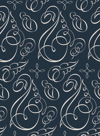 calligraph: Seamless vector flowers wallpaper. Vintage calligraph background
