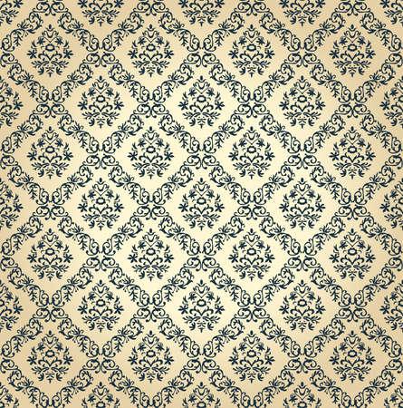 Seamless floral. Vecteur papier peint vintage noir Banque d'images - 40022289