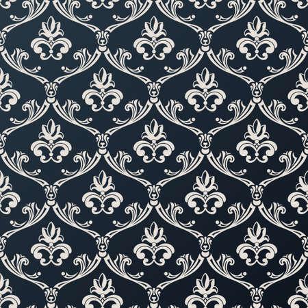 Nahtloses Blumenweinlesetapete. Zusammenfassung Hintergrund Vektor-schwarzen Design Standard-Bild - 40022320