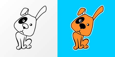 sad dog: Vector illustration of sad Cartoon Dog