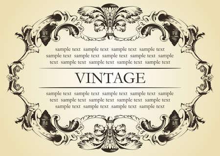 vector vintage frame cover stock Illustration