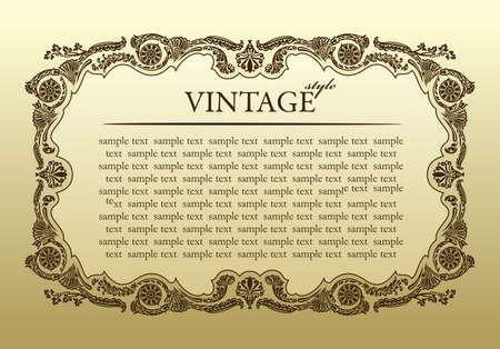 vintage ornament frame decorative - vector background