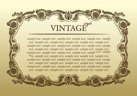 vintage ornament frame decorative - vector background