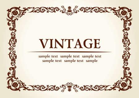 Vector vintage héraldique impériale décoration de cadre Banque d'images - 40345694