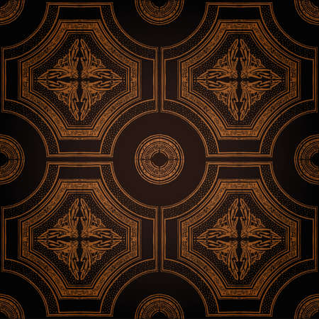 Vector plafond tegel naadloze vintage decoratieve zwart