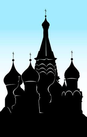 palacio ruso: Vasilys catedral dichosa cuadrado rojo Moscú