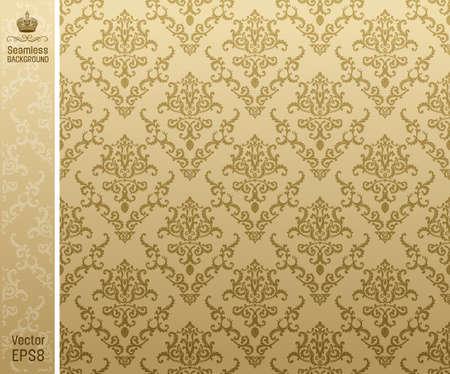 verschnörkelt: seamless backgroung vintage beige. Vektor-Illustration Illustration