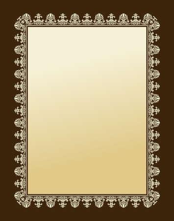 ornament frame: new Imperial ornament frame decorative vintage - background