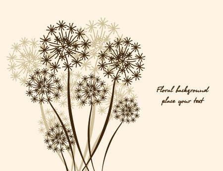 floral background Dandelion. Vector wallpaper Vector