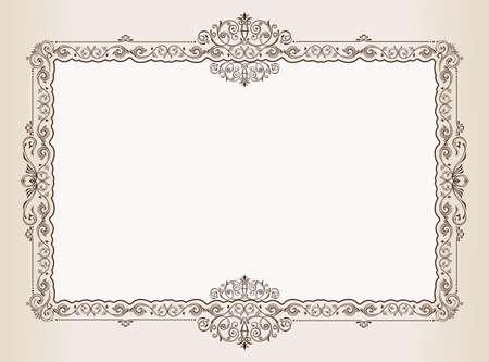 royal frame: Vector Vintage frame. Decorated antique ornaments for royal documents Illustration