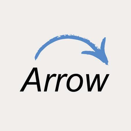 rebuild: Arrow icon logo. Vector emblem web symbol Illustration