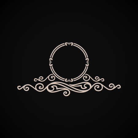 Vintage vector logo. Calligraphic elegant decor element ornament Иллюстрация