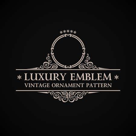 Vintage vector logo. Calligraphic elegant decor element ornament Illustration