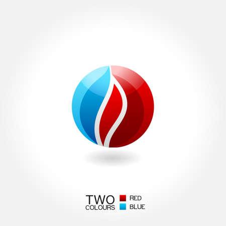 ciclo del agua: vector emblema de negocios icono de agua contra incendios círculo Vectores
