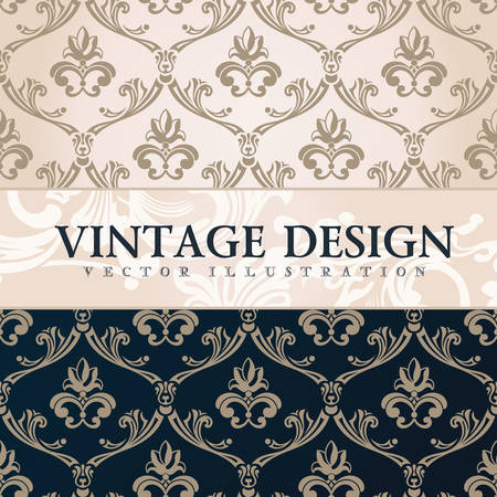 vintage paper: Vector vintage wallpaper. Gift wrap. Floral background with ornaments decorations branches curves