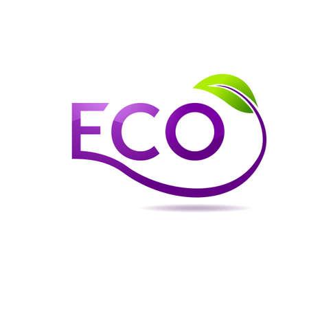 recycling logo: Green leaf vector logo design template. Garden logotype creative concept. Eco idea ecology icon