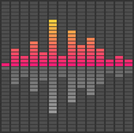 Abstract sound waves equalizer. Audio pulse music. Vector illustration Vettoriali