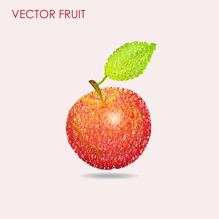 decorative frames: Apple pattern background vector illustration hand drawn