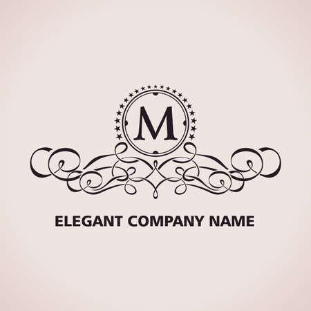 flourishes: Vector Luxury logo. Calligraphic pattern element. Vintage ornament