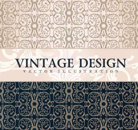 ornaments floral: Vector vintage wallpaper. Gift wrap. Floral background with ornaments decorations branches curves
