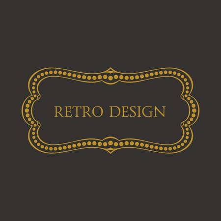 eleganz: Kalligraphische Rahmen und Seite Dekoration. Vector vintage Illustration Hintergrund Ornament