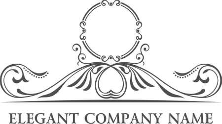 lineas decorativas: Establece logo de Lujo. Patrón Elementos caligráficos elegantes decoración. Vector del ornamento de la vendimia