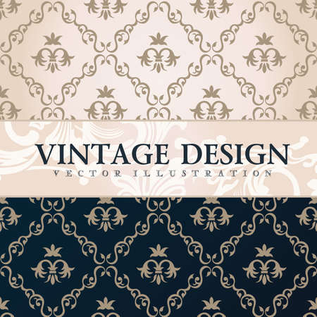 floral border: Vector vintage wallpaper. Gift wrap. Floral background with ornaments decorations branches curves