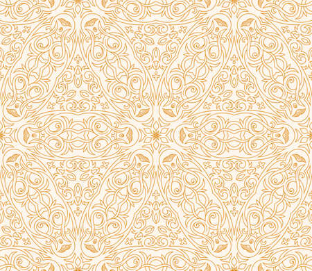 gold background: Seamless background in Arabic style. Gold, black, blue wallpaper with patterns for design. Traditional oriental decor