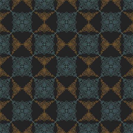 seamless texture: Illustration of seamless floral background in vintage style. Wallpaper with abstract patterns in the form of tiles. Ornament for design and print texture Illustration