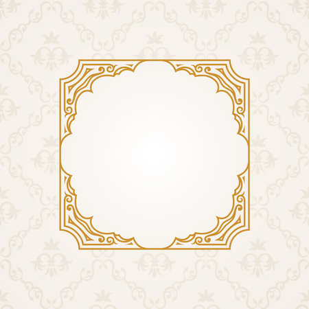 graphic elements: Calligraphic frame. Vector vintage elegant text border and decor background Illustration