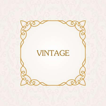 text frame: Calligraphic frame. Vector vintage elegant text border and decor background Illustration