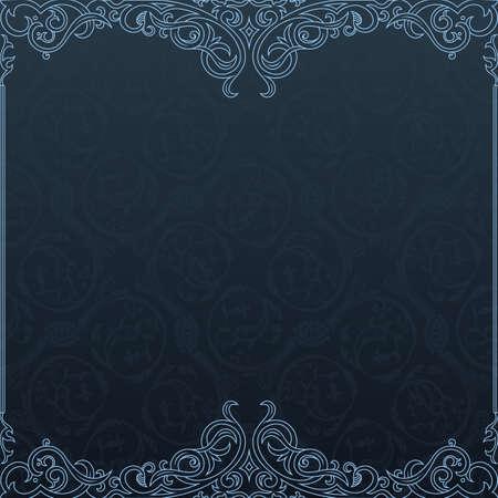label frame: Background vector invitation vintage label. floral frame Illustration