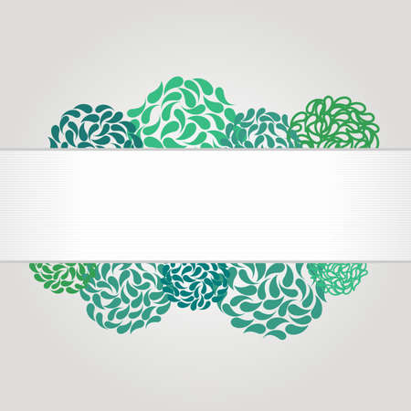 webbanner: Banner and frame for web design with abstract flowers. Beauty, spa or yoga theme. Place for your text. Watercolor elements in vector. Illustration