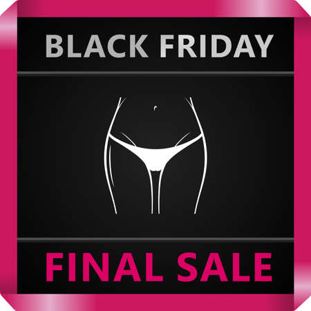 a thong: Black Friday collection sale banner. Label. Vector illustration