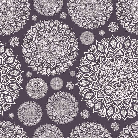 fabric design: Seamless pattern. Vintage decorative elements. Hand drawn decor background. Islam, Arabic, Indian, ottoman motifs. Perfect for printing on fabric or paper Illustration