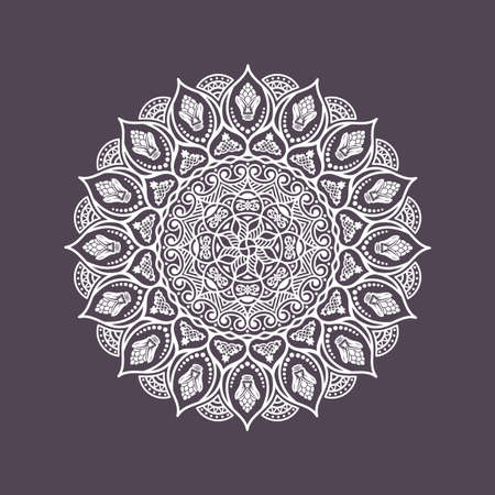 elegant background: Elegant background with lace ornament and place for text. Floral elements, ornate background, mandala. Vector illustration Illustration