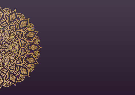 Elegant background with lace ornament and place for text. Floral elements, ornate background, mandala. Illustration