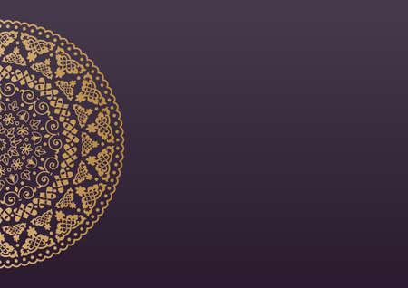 fond de texte: Elegant background avec l'ornement de la dentelle et de place pour le texte. Éléments floraux, fond fleuri, mandala. Illustration