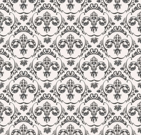 victorian wallpaper: seamless pattern with art ornament. Vintage elements for design in Victorian style. Ornamental lace tracery background. Ornate floral decor for wallpaper. Endless texture