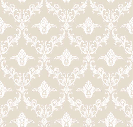tracery: seamless pattern with art ornament. Vintage elements for design in Victorian style. Ornamental lace tracery background. Ornate floral decor for wallpaper. Endless texture